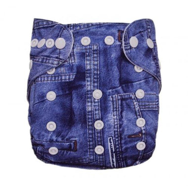 Alva Pocket Diaper - Denim - Happy BeeHinds