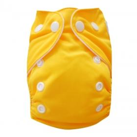 Alva Newborn Snap Pocket Diaper - Dark Yellow - Happy BeeHinds
