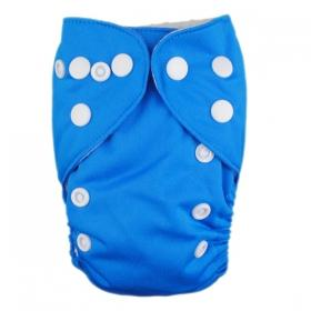 Alva Newborn Snap Pocket Diaper - Blue - Happy BeeHinds