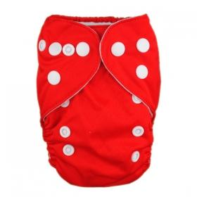 Alva Newborn Snap Pocket Diaper - Red - Happy BeeHinds