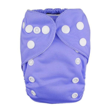 Alva Newborn Snap Pocket Diaper - Lavender - Happy BeeHinds