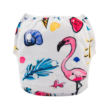 Alva Swim Diaper - Flamingo - Happy BeeHinds