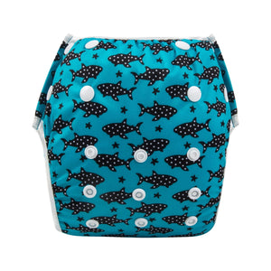 Alva Swim Diaper - Dotted Fish - Happy BeeHinds