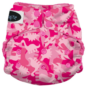 Imagine Pocket Diaper - Pink Camosaur