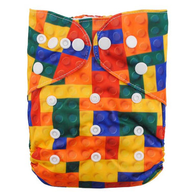Alva Pocket Diaper - Lego - Happy BeeHinds