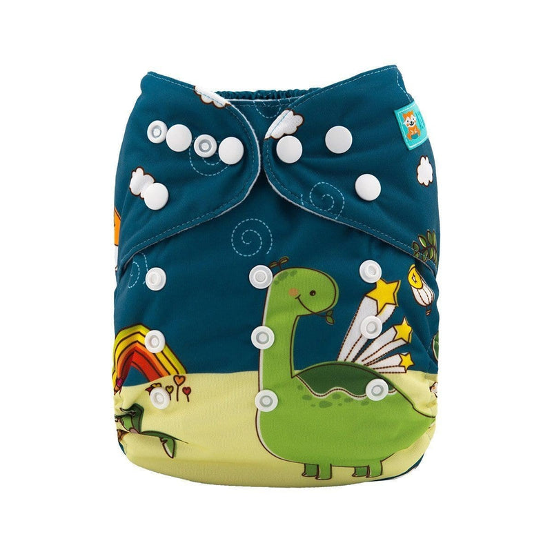 Alva Pocket Diaper - Dinosaur & Stars - Happy BeeHinds