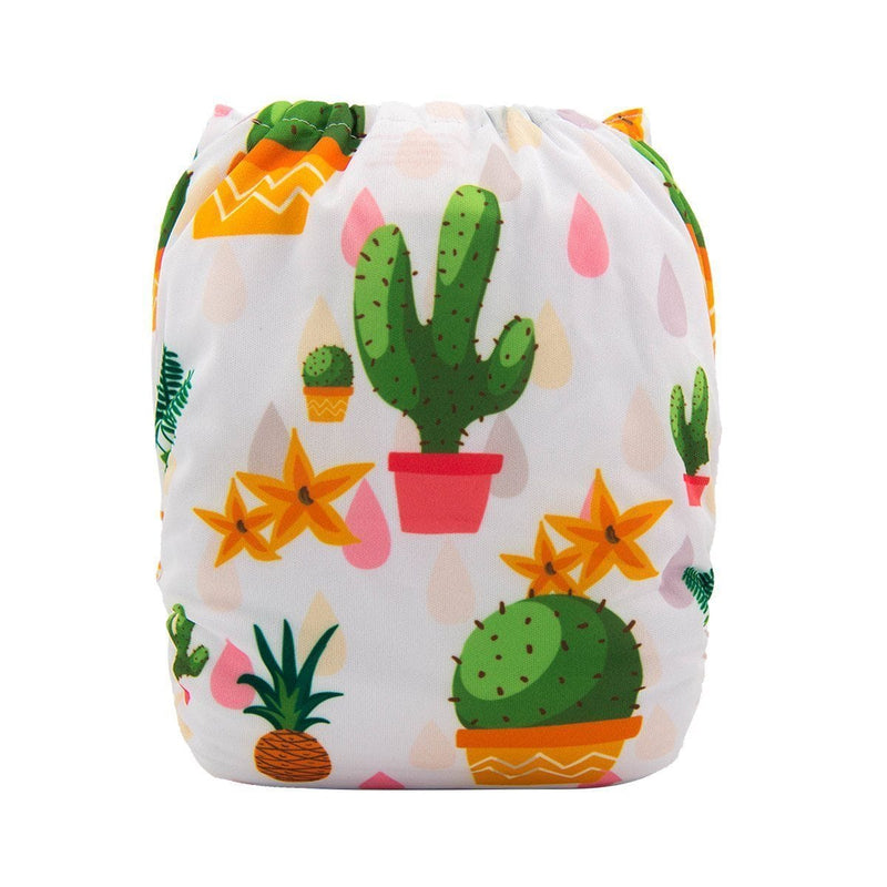 Alva Pocket Diaper - Cactus - Happy BeeHinds