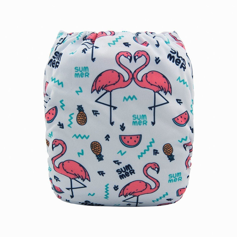 Alva Pocket Diaper - Flamingo - Happy BeeHinds