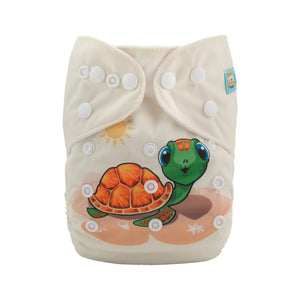 Alva Pocket Diaper - Turtle - Happy BeeHinds