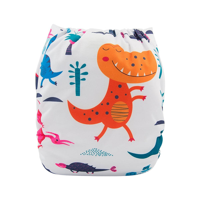 Alva Pocket Diaper - Colorful Dinosaur