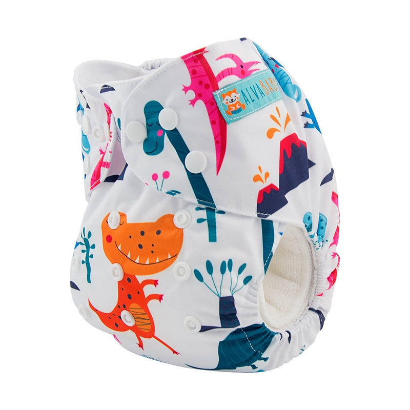 Alva Pocket Diaper - Colorful Dinosaur - Happy BeeHinds