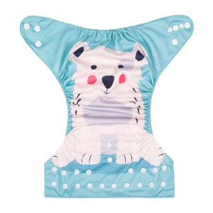 Alva Pocket Diaper - Polar Bear - Happy BeeHinds
