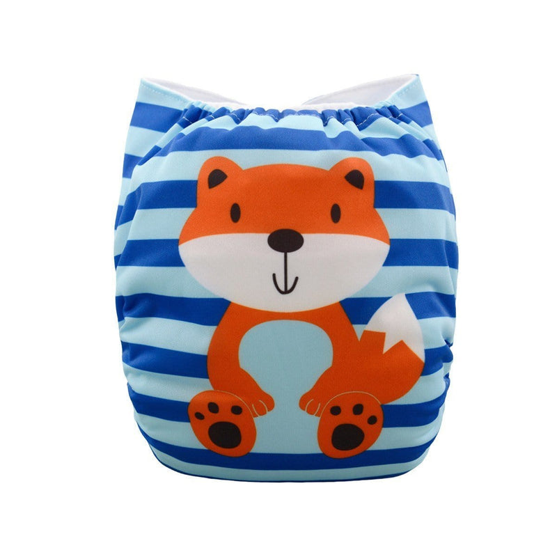 Alva Pocket Diaper - Foxy Stripes - Happy BeeHinds