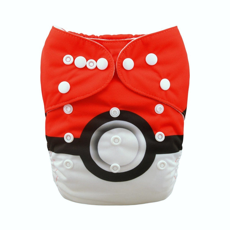 Alva Pocket Diaper - Pokeball - Happy BeeHinds