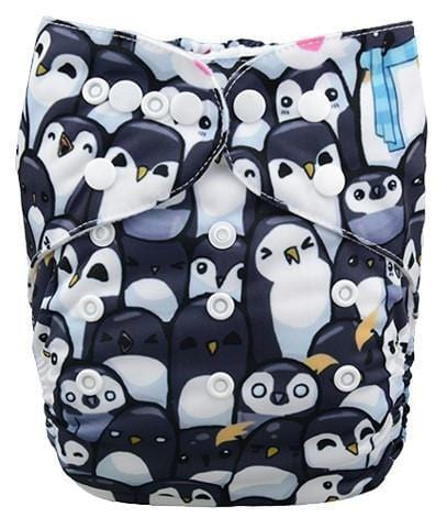 Alva Pocket Diaper - Penguin - Happy BeeHinds