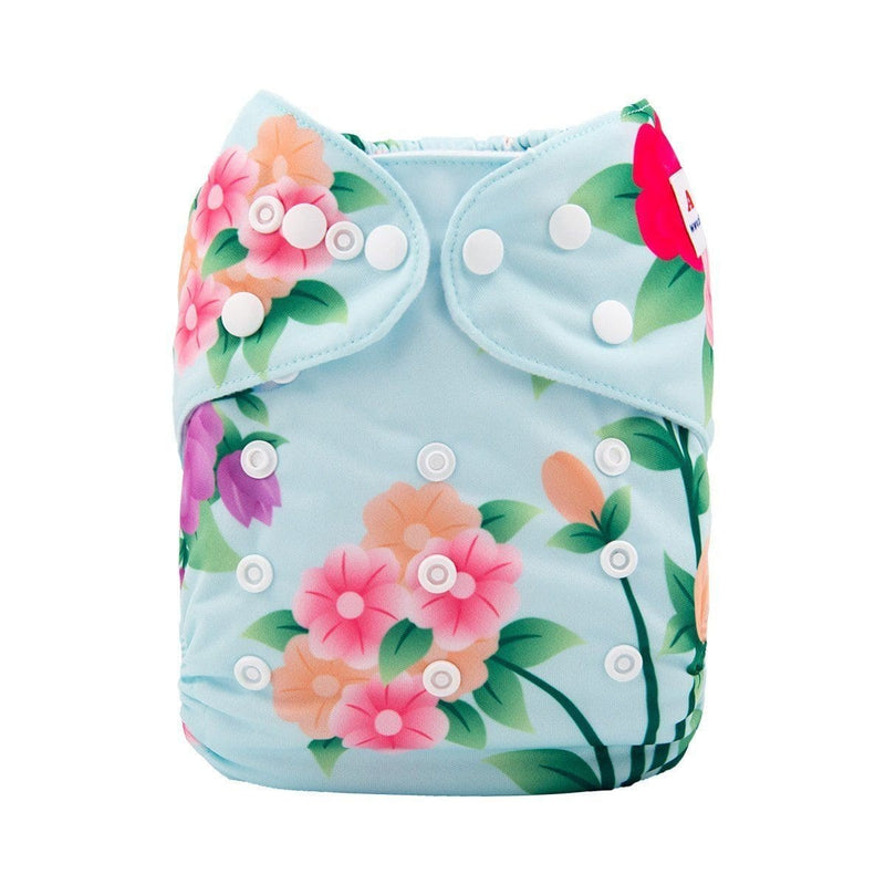 Alva Pocket Diaper - In Bloom - Happy BeeHinds