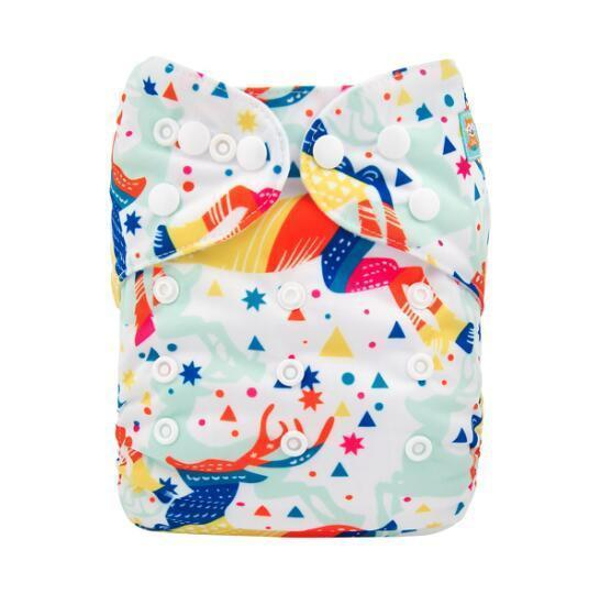 Alva Pocket Diaper - Magical Deer - Happy BeeHinds