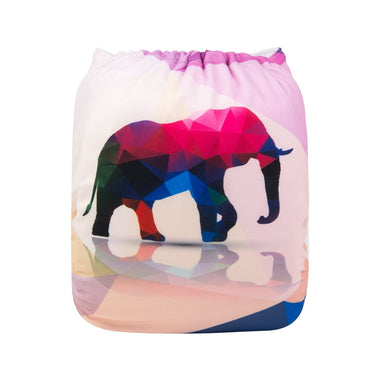 Alva Pocket Diaper - Geo Elephant