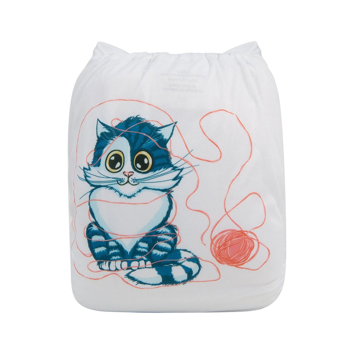 Alva Pocket Diaper - Playful Cat