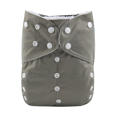 Alva BIG Pocket Diaper - Grey - Happy BeeHinds