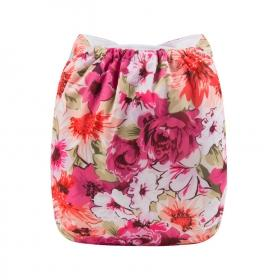 Alva BIG Pocket Diaper - Flowers - Happy BeeHinds