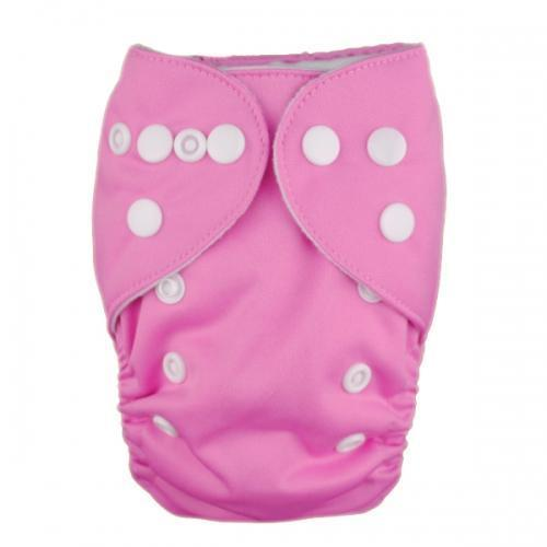 Alva Newborn Snap Pocket Diaper - Pink