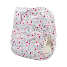 "Mama Koala Pocket Diaper - ""Summer Sweetness"" Clouds"