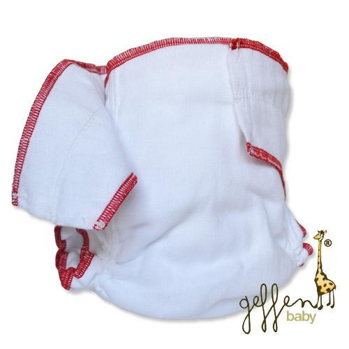 Geffen Cotton Fitted Diapers – Large (Red Edge) - Happy BeeHinds