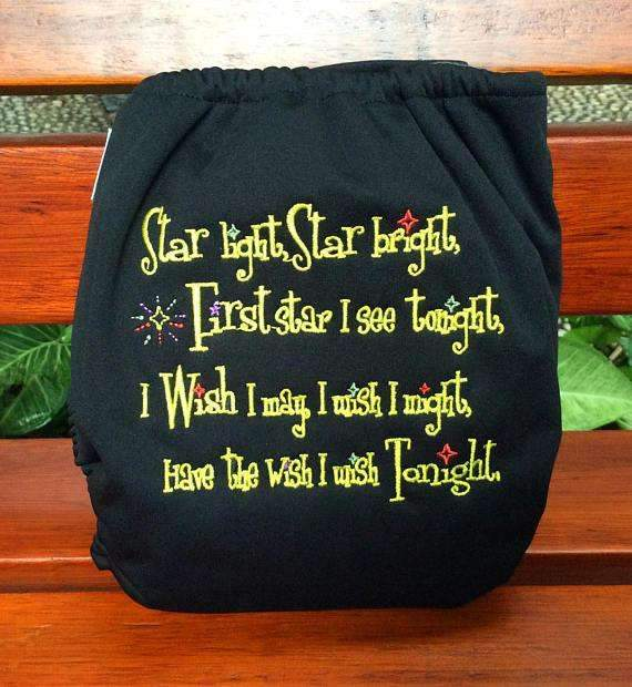 Embroidered AIO - Star Light - Happy BeeHinds