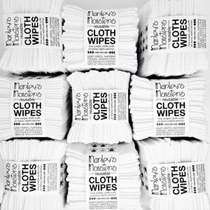 Marley's Monsters Cloth Wipes - White