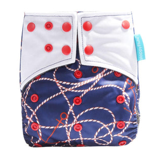 Happy Flute Pocket Diaper - Nautical