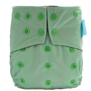 Happy Flute Pocket Diaper - Soft Green