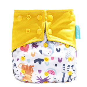Happy Flute Pocket Diaper - Zoo Animal