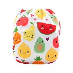 Alva Pocket Diaper - Smiling Fruit - Happy BeeHinds
