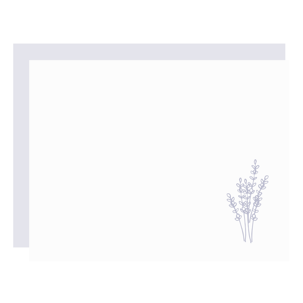 Lavender Flat Boxed Note Set