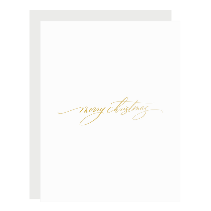 Merry Christmas Gold Script