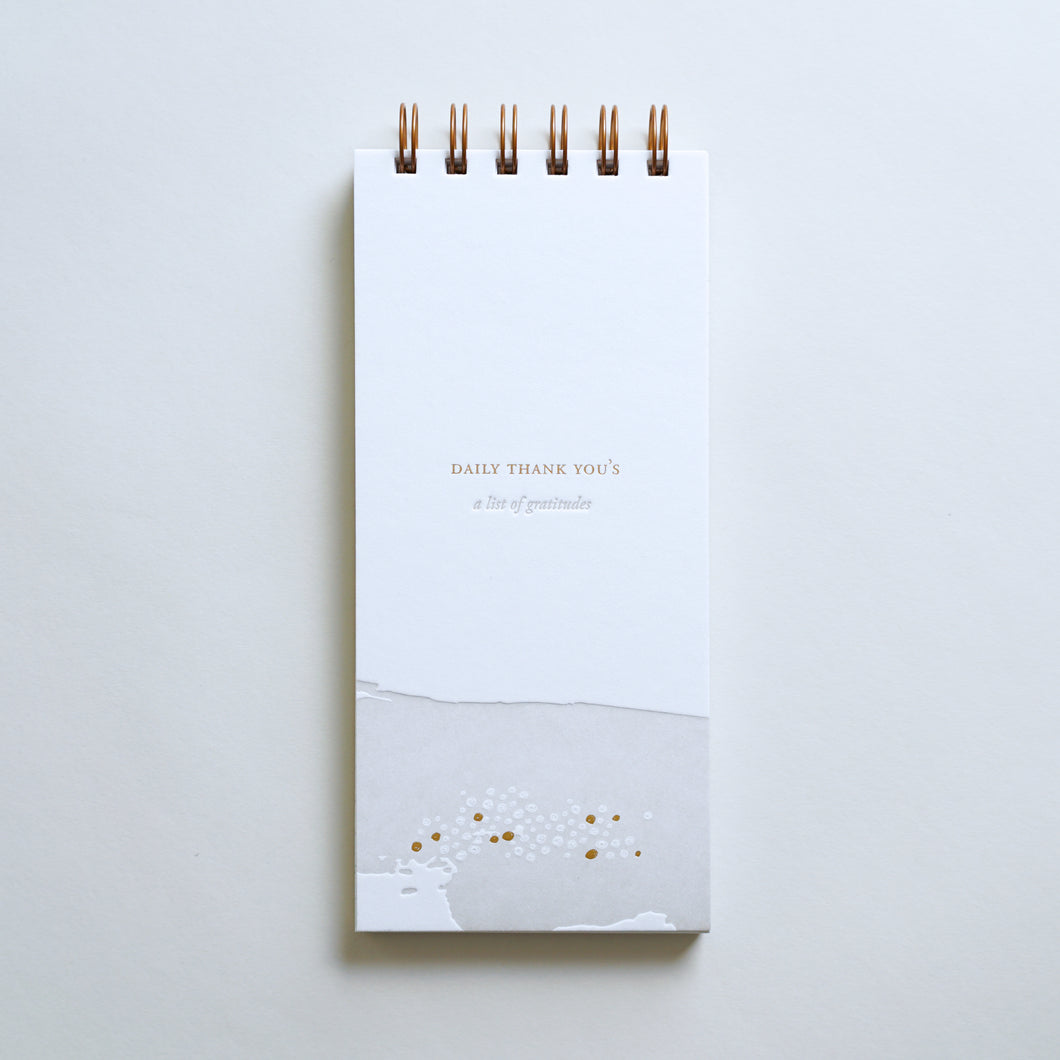 Daily Thank You's Lined Notebook