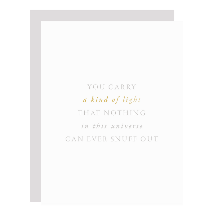 You Carry a Light