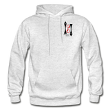 Gildan Heavy Blend Ladie's Hoodie - light heather gray