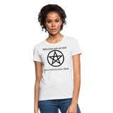 Witches are...Women's T-Shirt - white