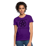 Witches are...Women's T-Shirt - purple