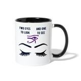 Two to see Contrast Coffee Mug - white/black