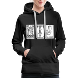 Perspective Spread Women's Premium Hoodie - black