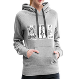 Perspective Spread Women's Premium Hoodie - heather gray