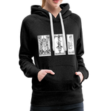 Perspective Spread Women's Premium Hoodie - charcoal gray