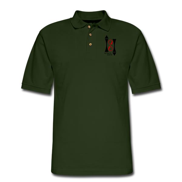 ISI Men's Pique Polo Shirt - forest green