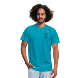 ISI Unisex Jersey T-Shirt by Bella + Canvas - turquoise