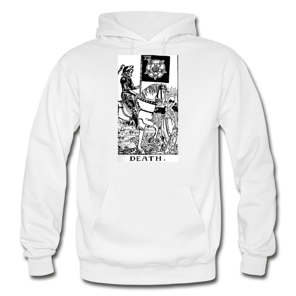 Death Gildan Heavy Blend Adult Hoodie - white