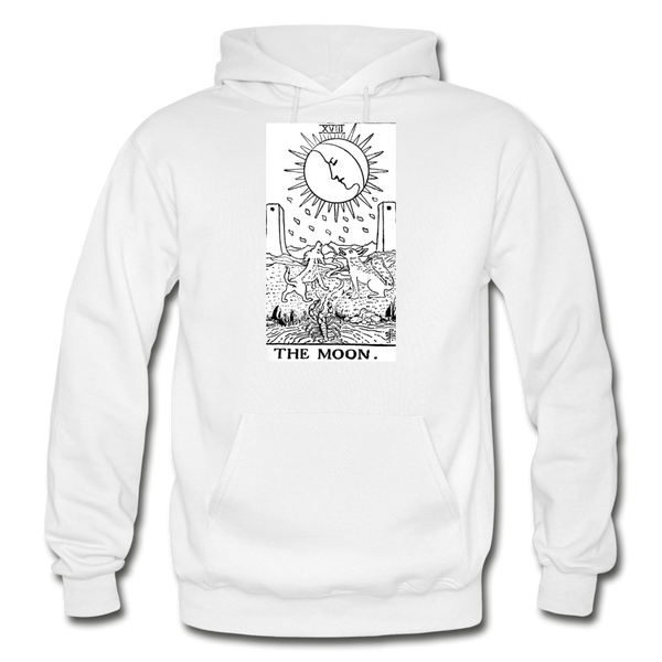 The Moon Gildan Heavy Blend Adult Hoodie - white