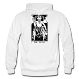 The Devil Gildan Heavy Blend Adult Hoodie - white